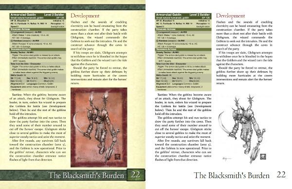 The Blacksmith's Burden Layout