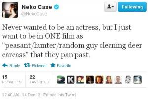 Neko Case cleans a dear carcass.